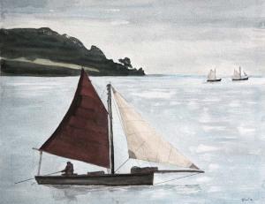 Falmouth-Working-boat-Katrina-Boat-Watercolor-Painting