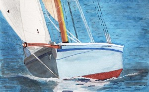 Falmouth-Working-boat-Mabel-Boat-Watercolor-Painting