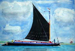 Norfolk-Wherry-Boat-Watercolor-Painting