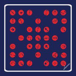 90x90_dark nav-red_polka dot_loxo