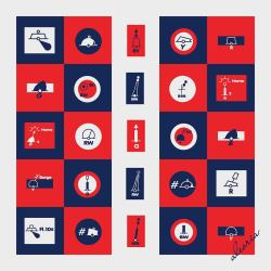 90x90_navy blue-red-pale silver_60's_squares